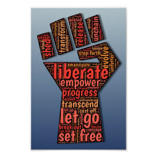 Empower, Strength, Liberate, Power Poster
