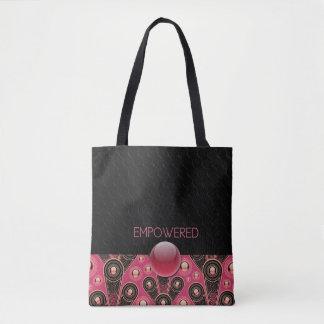 EMPOWERED - Black, Salmon - Handbag
