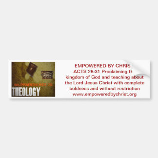 Empowered By Christ Bumper Sticker