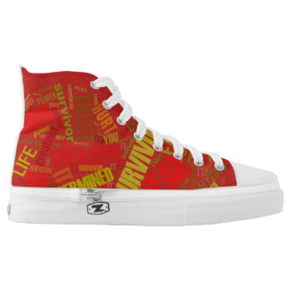 Empowered Heart High Tops Red