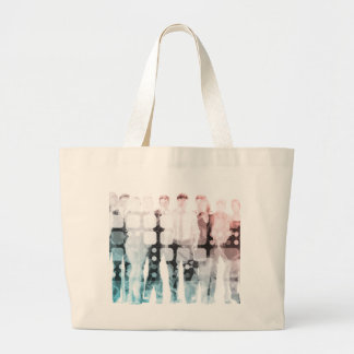 Empowered Professionals Working as a Team Concept Large Tote Bag