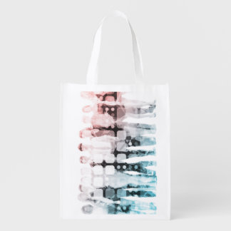 Empowered Professionals Working as a Team Concept Reusable Grocery Bag