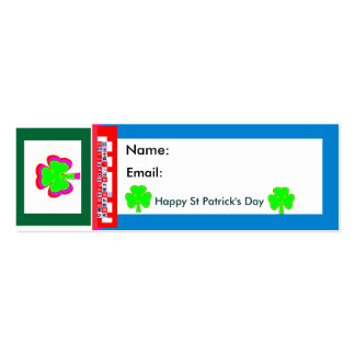 Empowered The MUSEUM Zazzle Shamrock Business Card