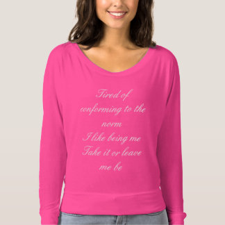 Empowering woman pink long sleeve top