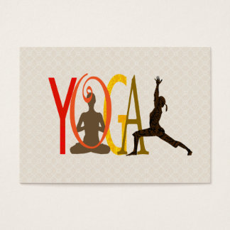 Empowering Yoga Meditation Pose Business Card