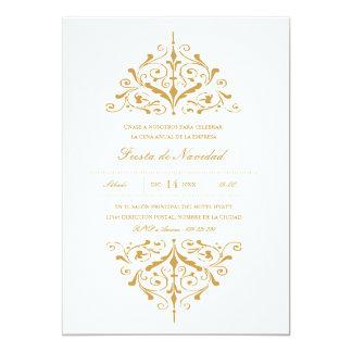 Empresa Invitación Fiesta elegante del oro Card