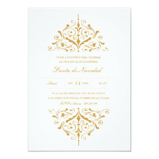 Empresa Invitación Fiesta elegante del oro Personalized Invitation