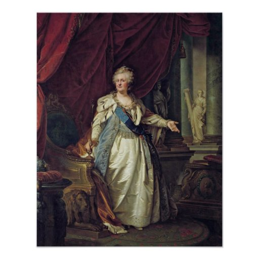 Empress Catherine II by Giovanni Lampi the Elder Poster