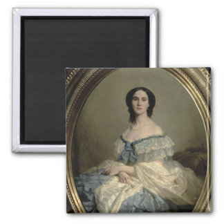Empress Charlotte of Mexico Square Magnet