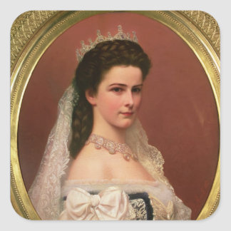 Empress Elizabeth of Bavaria  in Hungarian Square Sticker