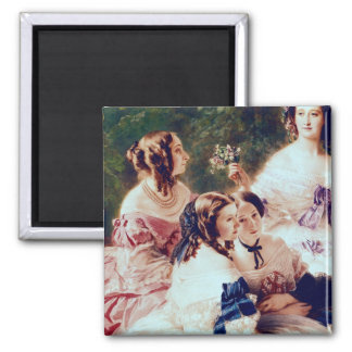 Empress Eugenie  and her Ladies in Waiting Square Magnet