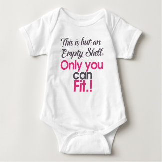 empt shell baby bodysuit