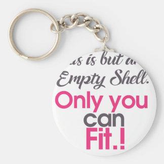 empt shell key ring