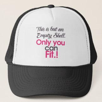 empt shell trucker hat
