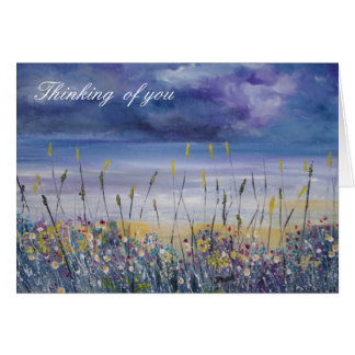 Empty beach sympathy condolences card
