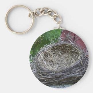 Empty Bird's Nest Key Ring