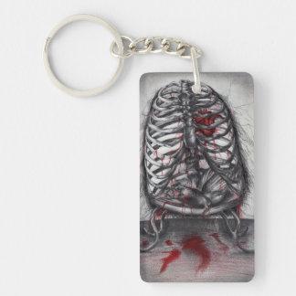 Empty Cage Anatomy Horror Art Acrylic Keychain