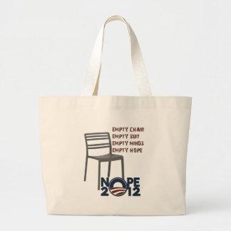 Empty Chair, Empty Obama Jumbo Tote Bag