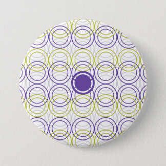 Empty circles 7.5 cm round badge