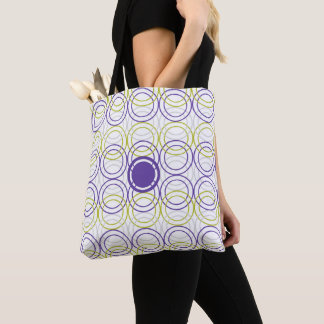 Empty circles tote bag