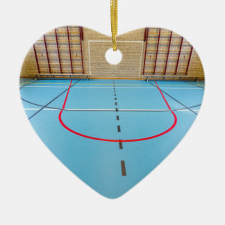 Empty european gymnasium for school sports ceramic heart decoration