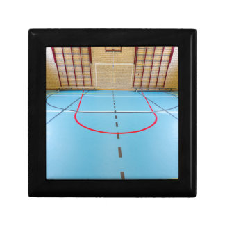 Empty european gymnasium for school sports gift box