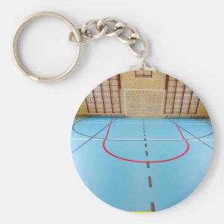 Empty european gymnasium for school sports key ring
