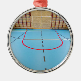 Empty european gymnasium for school sports metal ornament