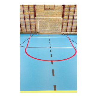 Empty european gymnasium for school sports stationery
