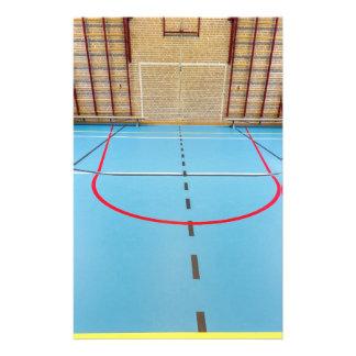Empty european gymnasium for school sports stationery paper