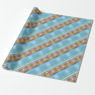 Empty european gymnasium for school sports wrapping paper