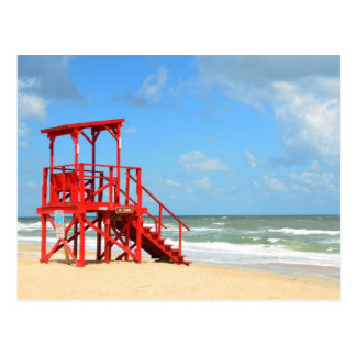 Empty Life Guard Stand Postcard