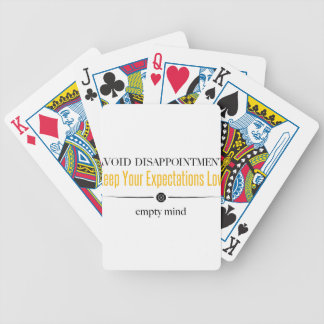 Empty Mind Bicycle Playing Cards