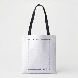 Empty mind stay zen tote bag