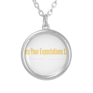 Empty Mind White Silver Plated Necklace