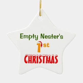 Empty Nester's 1st Christmas Ceramic Star Decoration