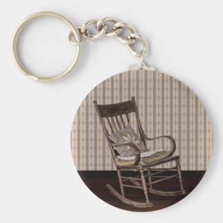 Empty Old Vintage  Rocking Chair Key Ring