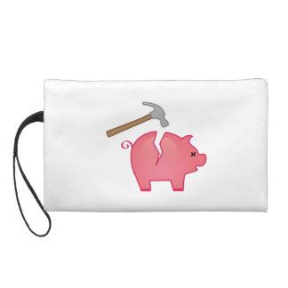 Empty Piggy Bank Wristlet