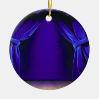 Empty Stage With Curtains Ceramic Ornament