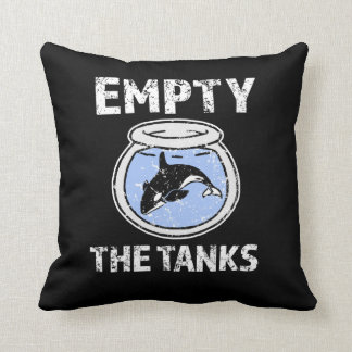 Empty the Tanks - Free the Orca Whales PIllow