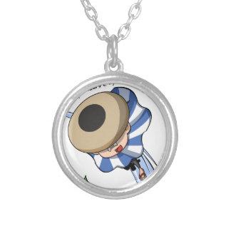 Empty tsu Kazetarou English story Mount Akagi Silver Plated Necklace
