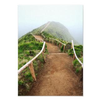 Empty walking trail 13 cm x 18 cm invitation card