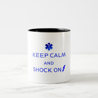 EMS coffe or tea mug. Keep calm and... Two-Tone Coffee Mug