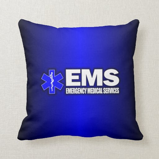 EMS -Emergency Medical Services Throw Pillows