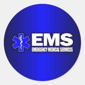 EMS -Emergency Medical Services Round Sticker