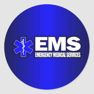 EMS -Emergency Medical Services Round Stickers
