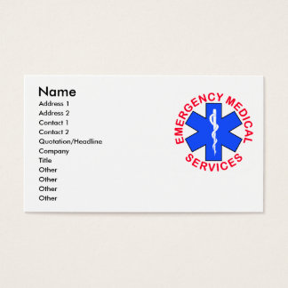 EMS EMT Contact Card