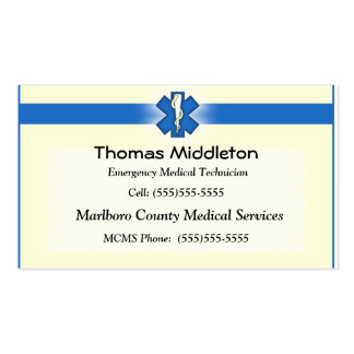 EMS / EMT Contact Card Double-Sided Standard Business Cards (Pack Of 100)