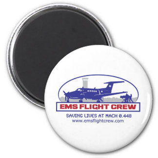 EMS Fixed Wing Turbo Prop 6 Cm Round Magnet