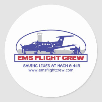 EMS Fixed Wing Turbo Prop Round Sticker